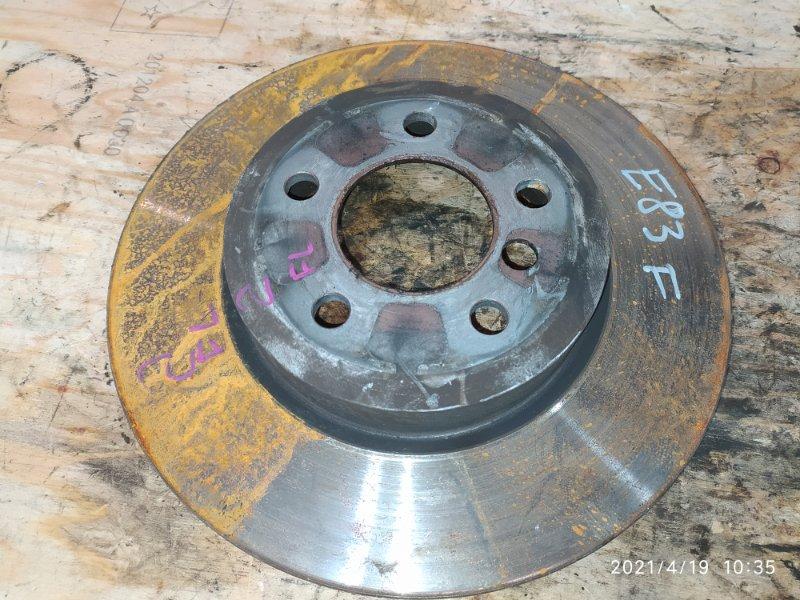 Диск тормозной Bmw X3 E83 N52B30 2007 передний