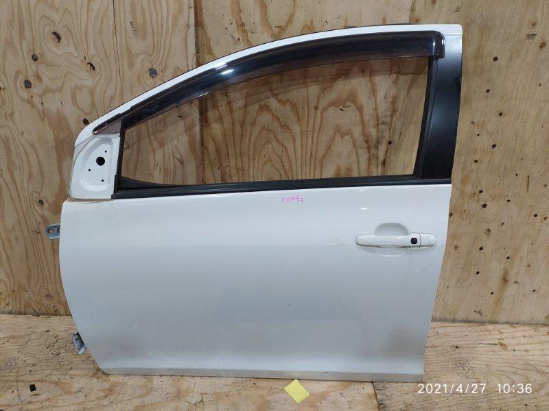 Дверь боковая Toyota Belta SCP92 2SZ-FE 2006 передняя левая