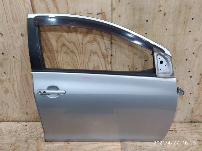 Дверь боковая Toyota Belta SCP92 2SZ-FE 2006 передняя правая