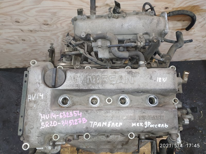 Двигатель Nissan Bluebird HU14 SR20DE 2000
