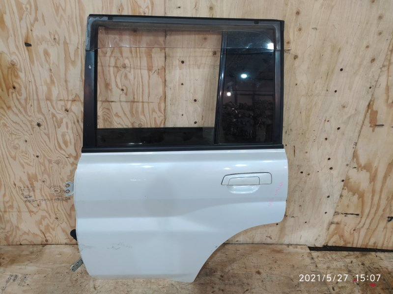 Дверь боковая Mitsubishi Pajero Io H77W 4G94 2001 задняя левая