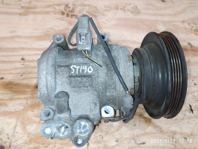 Компрессор кондиционера Toyota Caldina ST190G 4S-FE 1994