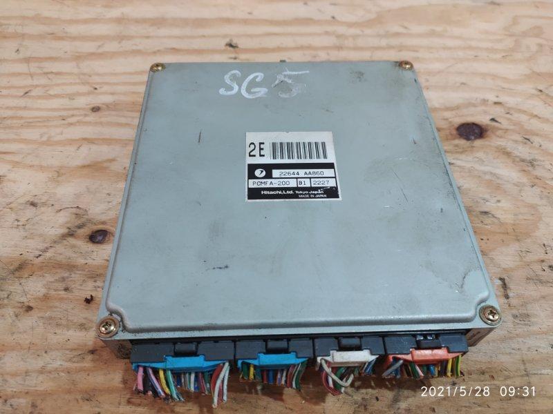 Блок управления двс Subaru Forester SG5 EJ20 2002