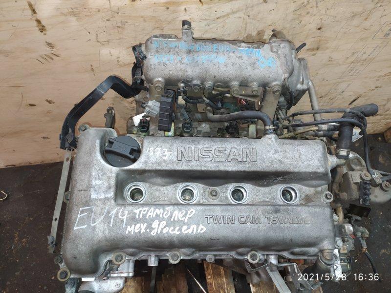 Двигатель Nissan Bluebird EU14 SR18DE 1998