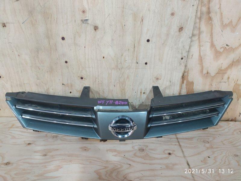 Решетка радиатора Nissan Wingroad WFY11 QG15DE 2004