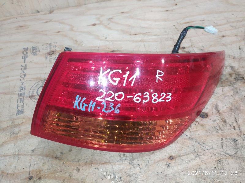 Фонарь стоп-сигнала Nissan Bluebird Sylphy KG11 MR20DE 2006 правый
