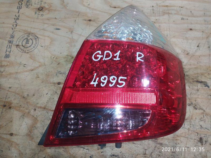 Фонарь стоп-сигнала Honda Fit GD1 L13A 2006 правый