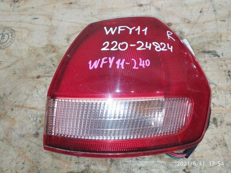 Фонарь стоп-сигнала Nissan Wingroad WFY11 QG15DE 2002 правый