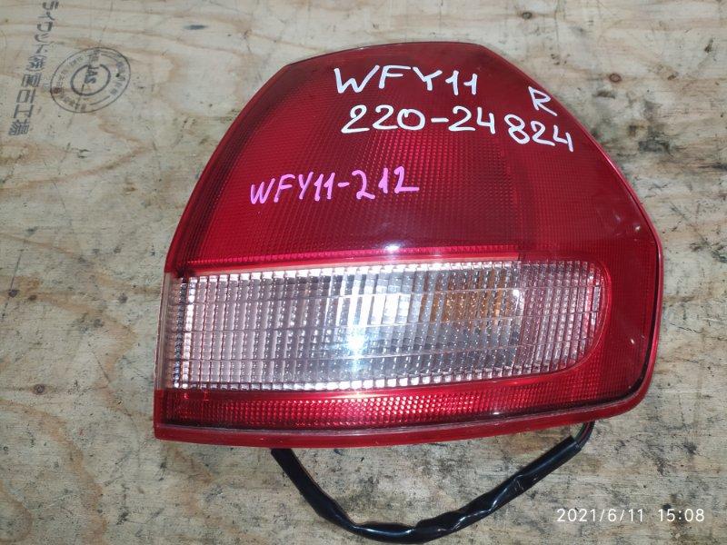 Фонарь стоп-сигнала Nissan Wingroad WFY11 QG15DE 2001 правый