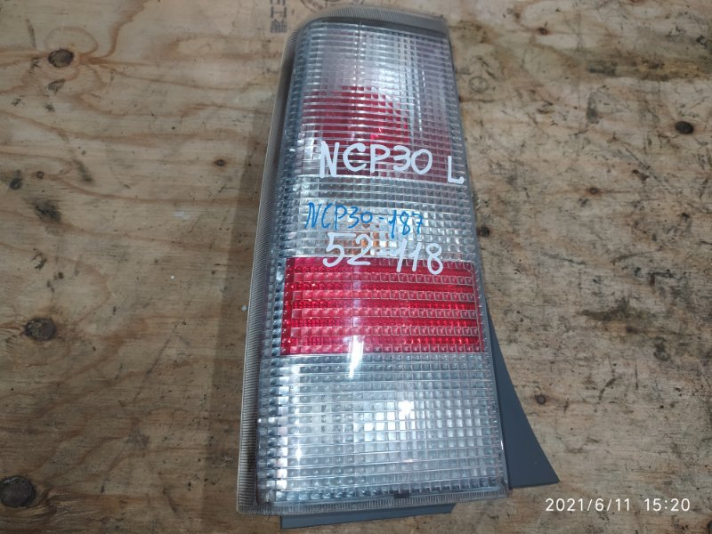 Фонарь стоп-сигнала Toyota Bb NCP30 2NZ-FE 2005 левый