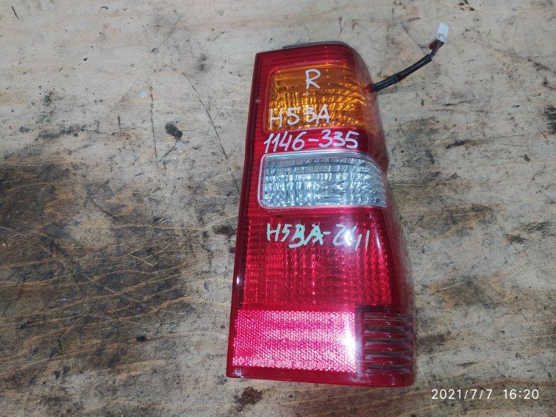 Фонарь стоп-сигнала Mitsubishi Pajero Mini H53A 4A30 2000 правый