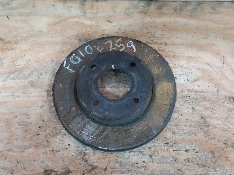Диск тормозной Nissan Bluebird Sylphy FG10 QG15DE 2004 передний