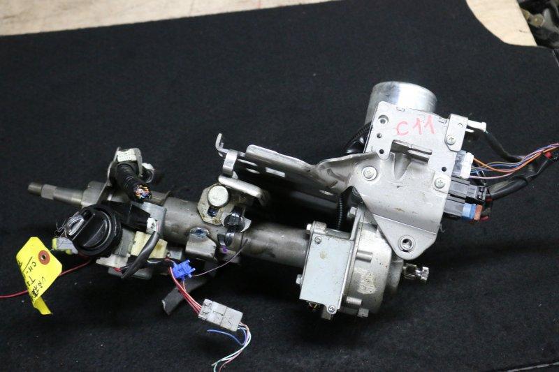 Замок зажигания Nissan Tiida C11 HR15 2007 Продается в сборе с рулевой колонкой. (б/у)