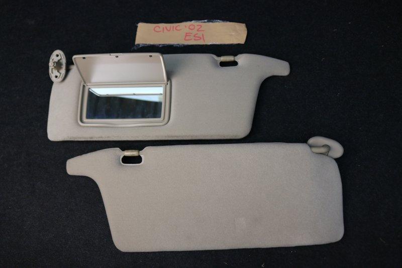 Козырек солнцезащитный Honda Civic Ferio ES1 D15B 2002 Бежевые. Цена указана за 2 шт., (б/у)