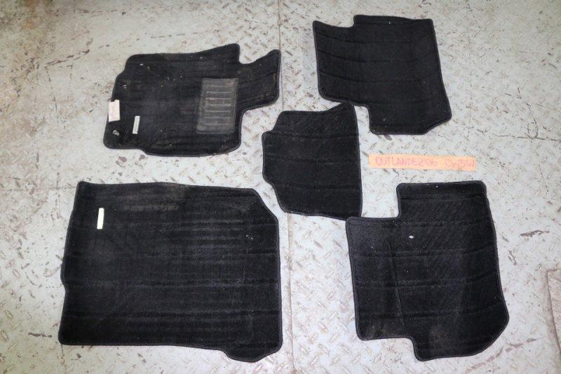 Коврик Mitsubishi Outlander CW5W 4B12 2006 Комплект из 5 шт., текстильные черные (б/у)