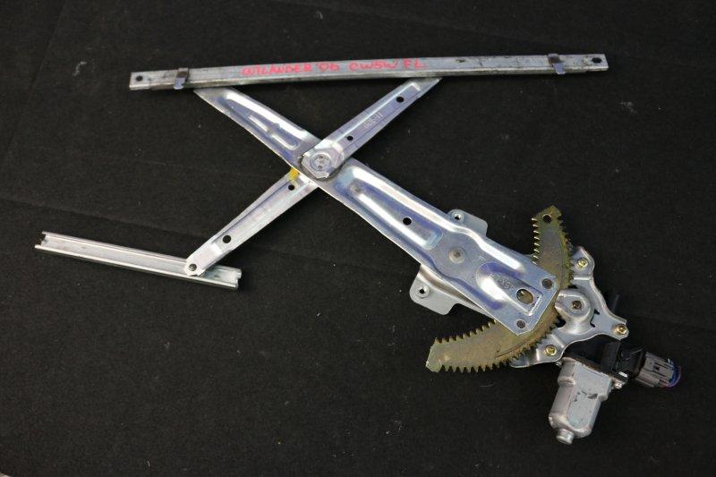 Стеклоподъемный механизм Mitsubishi Outlander CW5W 4B12 2006 передний левый (б/у)