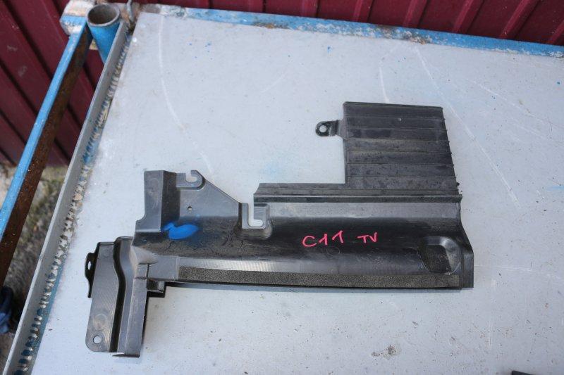 Дефлектор радиатора Nissan Tiida C11 HR15 2004 правый (б/у)
