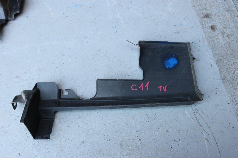 Дефлектор радиатора Nissan Tiida C11 HR15 2004 левый (б/у)