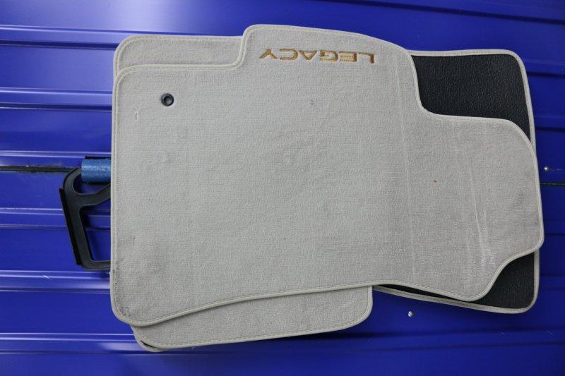 Коврик Subaru Legacy BR9 EJ25 2009 Комплект ковриков. Текстильные, бежевые. Оригинал, (б/у)