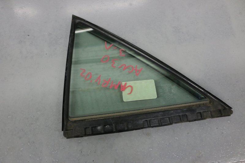 Форточка двери Toyota Camry ACV30 2AZ 2000 задняя левая (б/у)
