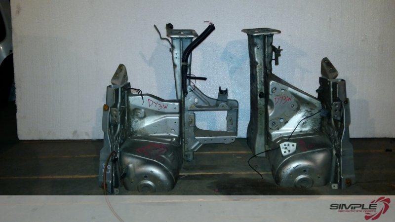 Лонжерон Mazda Demio DY3W ZJ 2003 передний левый (б/у)