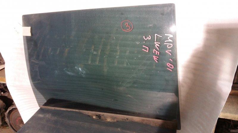 Стекло боковое Mazda Mpv LWEW FS 2001 заднее правое GRN, 3 (б/у)