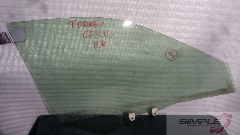 Стекло боковое Honda Torneo CF4 F20B 2001 переднее правое GRN, 3 (б/у)