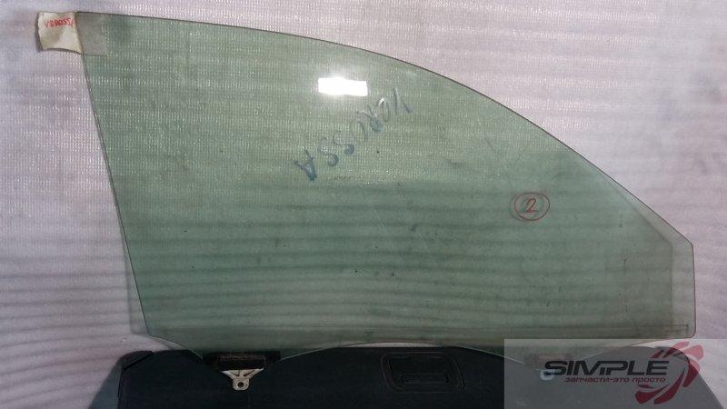 Стекло боковое Toyota Verossa GX110 1G 2001 переднее правое GRN, 2 (б/у)