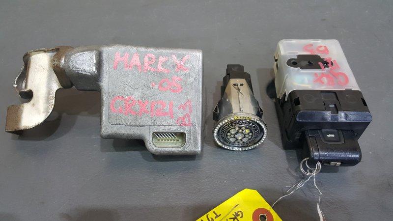 Замок зажигания Toyota Mark X GRX121 3GR-FSE 2005 Кнопка, электронный блок, ключ. Все в (б/у)