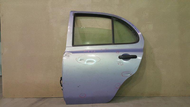 Стеклоподъемный механизм Nissan March AK12 CR12DE 2004 задний левый В двери. (б/у)