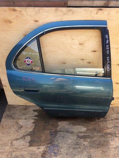 Дверь боковая Toyota Sprinter EE101 1994 задняя правая 1043 (б/у)