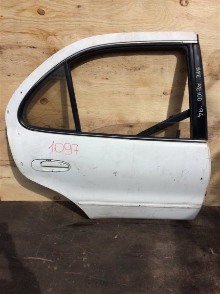 Дверь боковая Toyota Sprinter AE100 1994 задняя правая 1097 (б/у)