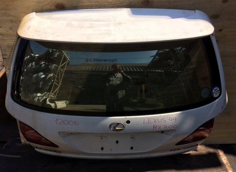 Дверь багажника Lexus Rx300 MCU10 1999 12006 (+14.05.20) Голая (снят замок, дворник, ручка). (б/у)