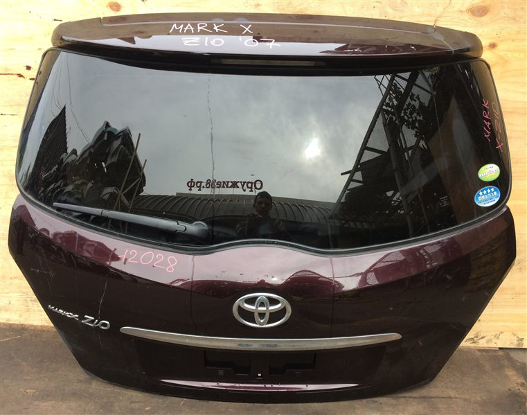 Дверь багажника Toyota Mark X Zio ANA10 2007 12028 (+14.05.20) С камерой заднего вида. (б/у)