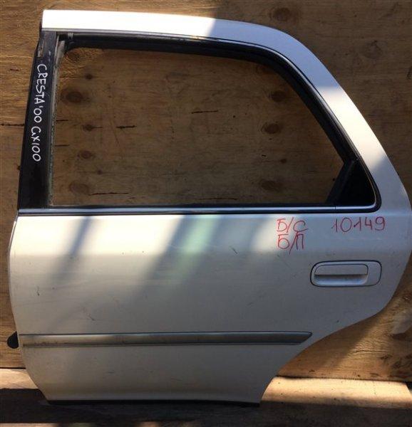 Дверь боковая Toyota Cresta GX100 2000 задняя левая 10149 Снят стеклоподъемник, стекло. (б/у)