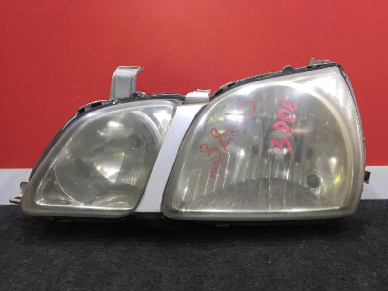 Фара Toyota Gaia SXM10 передняя левая 44-48 Дефект креплений (см. фото). (б/у)