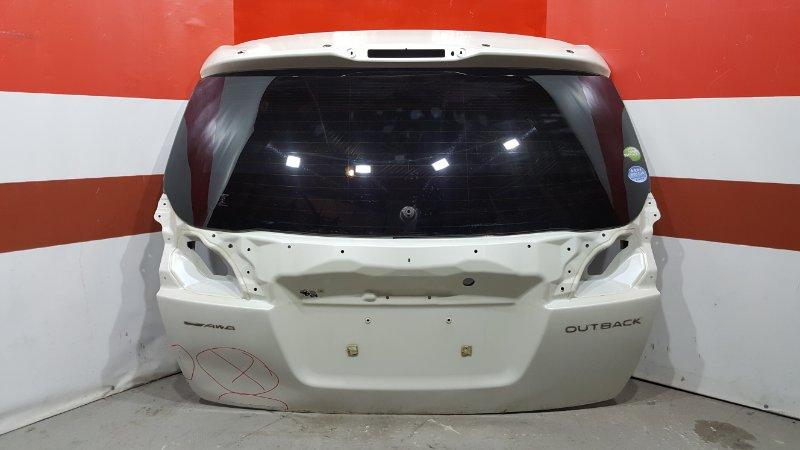 Дверь багажника Subaru Outback BR9 EJ25 2010 задняя Есть дефект смотрите фото, голая. (б/у)