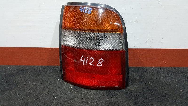 Задний фонарь Nissan March AK11 задний левый 4649 (б/у)