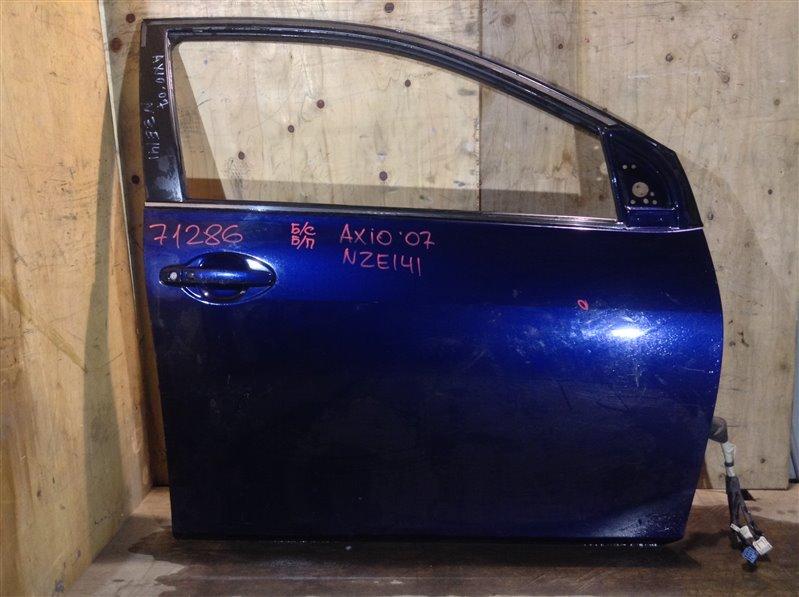 Дверь боковая Toyota Corolla Axio NZE141 2007 передняя правая 71286 (+21.05.20) Cнят стеклоподъемник, (б/у)