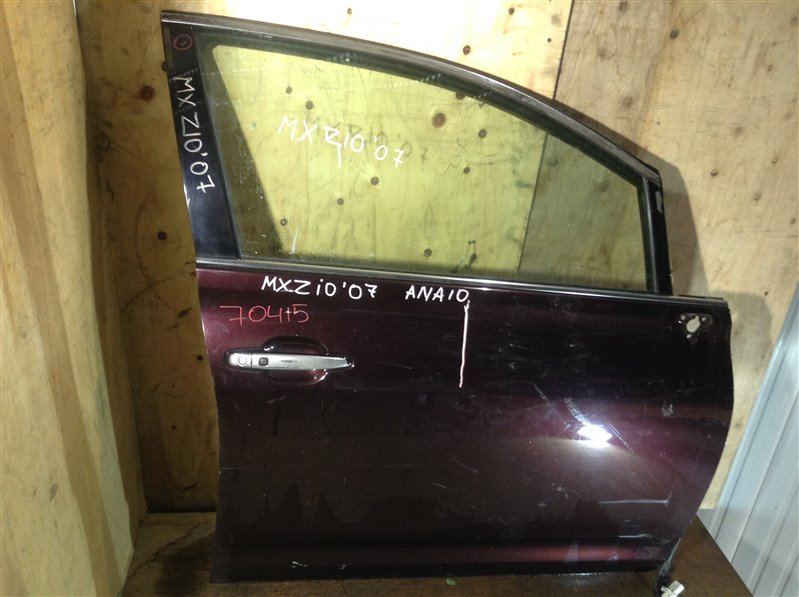 Дверь боковая Toyota Mark X Zio ANA10 2007 передняя правая 70415 (+21.05.20) Потертости (см. фото). 11ВТ (б/у)