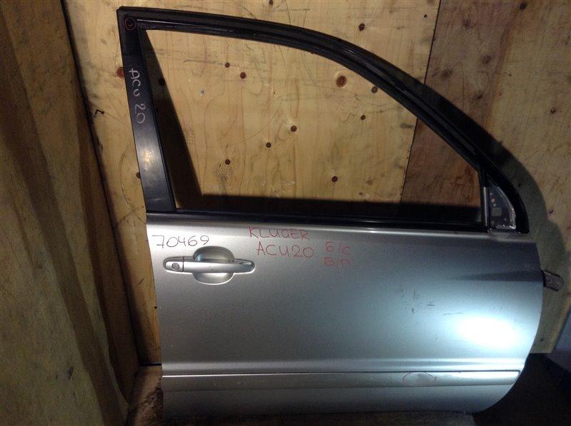 Дверь боковая Toyota Kluger MCU25 2AZ 2003 передняя правая 70469 (+21.05.20) Потертости (см. фото). Снят  (б/у)