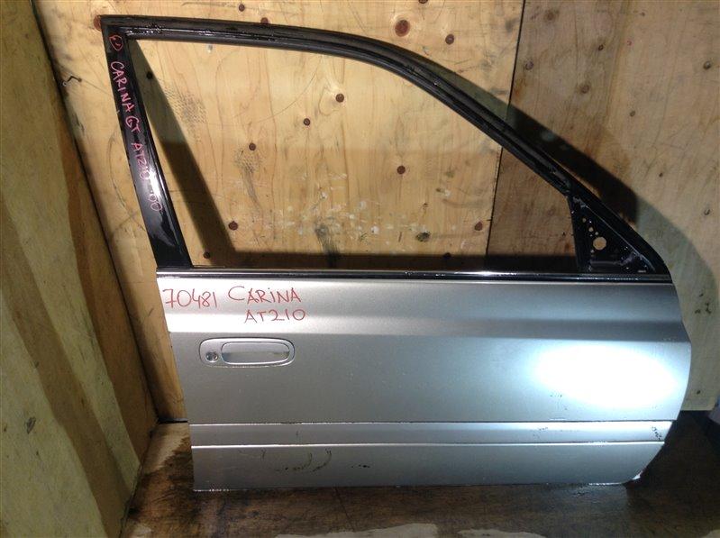 Дверь боковая Toyota Carina AT211 2000 передняя правая 70481 (+21.05.20) Снят стеклоподъемник, (б/у)