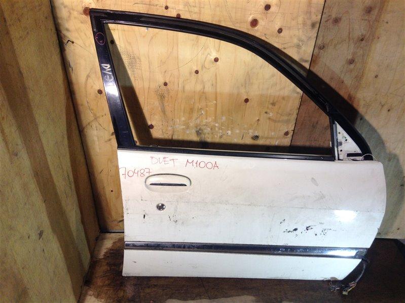 Дверь боковая Toyota Duet M100A передняя правая 70487 (+21.05.20) Дефект (см. фото). 12ВТ (б/у)