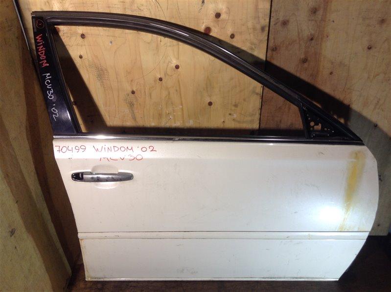 Дверь боковая Toyota Windom MCV30 1MZ 2002 передняя правая 70499 (+21.05.20) Небольшая вмятина (см. (б/у)