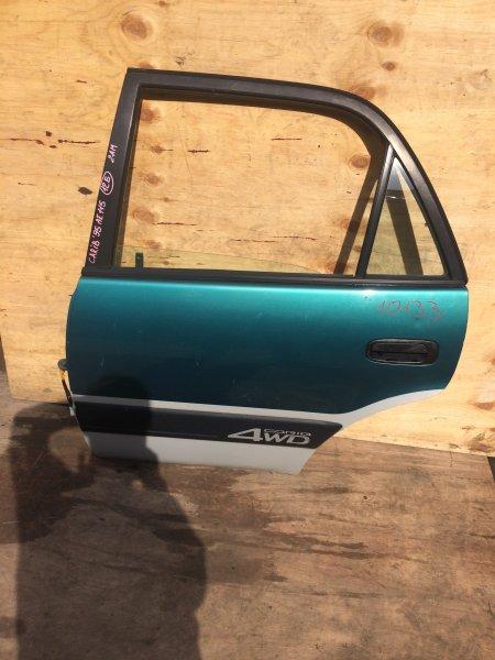 Дверь боковая Toyota Sprinter Carib AE111 1995 задняя левая 10133 (б/у)