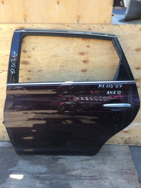 Дверь боковая Toyota Mark X Zio ANA10 2007 задняя левая 10141 (+20.05.20) Снято стекло. (б/у)