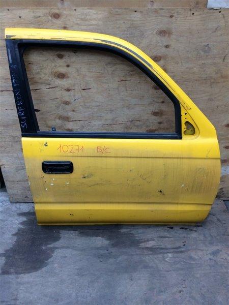 Дверь боковая Toyota Hilux Surf RZN185 5VZ 1998 передняя правая 10271 (+21.05.20) Снят замок, личинка, (б/у)