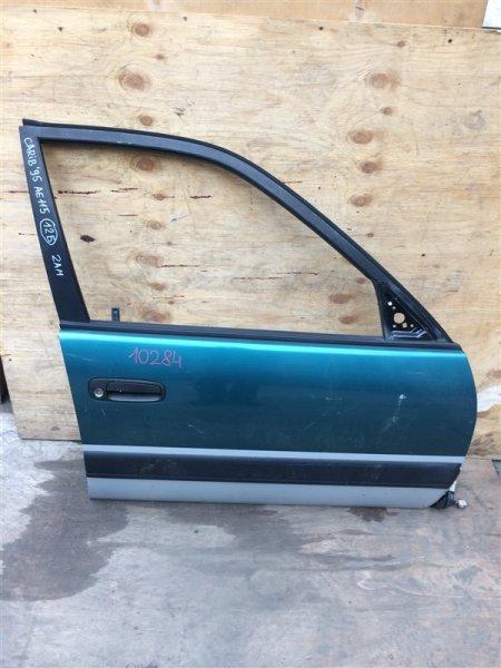Дверь боковая Toyota Sprinter Carib AE115 1995 передняя правая 10284 (+21.05.20) Без личинки. Цена (б/у)