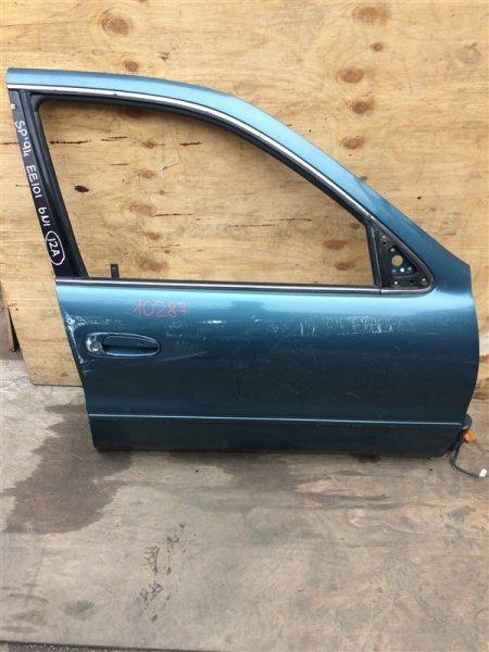 Дверь боковая Toyota Sprinter EE101 1994 передняя правая 10287 (+21.05.20) Снят замок, стекло, (б/у)
