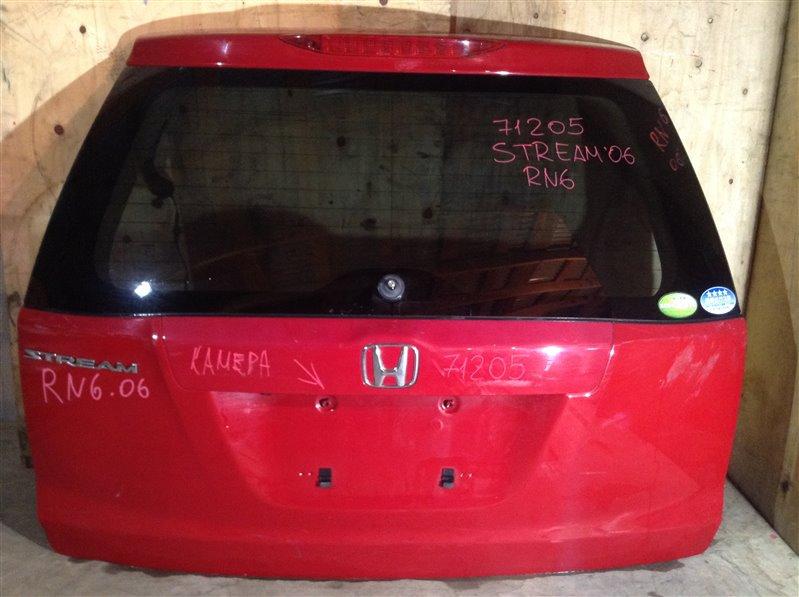 Дверь багажника Honda Stream RN6 2006 задняя 71205 (+14.05.20) С камерой заднего вида. (б/у)